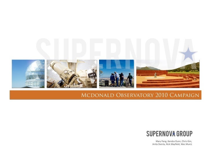 McDonald Observatory Plansbook