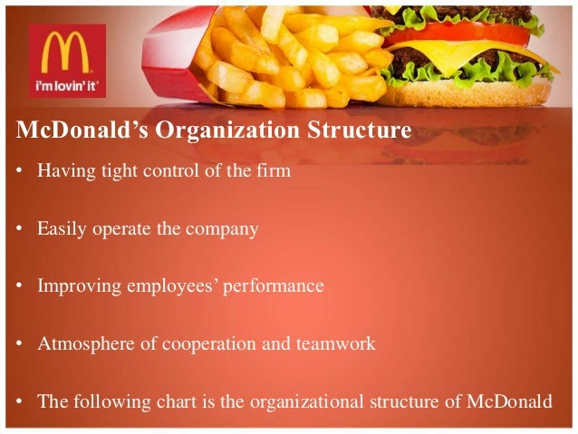 mcdonalds organization Mcdonald's is one of the biggest multinational companies in the food sector and also the biggest hamburger fast food restaurants chain in the world it operates in 120 countries and it almost serves 70 million customers every day across the world.