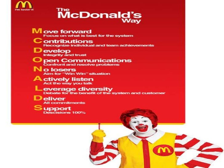 a history of mcdonald in the food service organization Hosp–ica-3 examine and identify the history and philosophy of the food service industry 31 describe and define professionalism in the various roles of the food service organization.