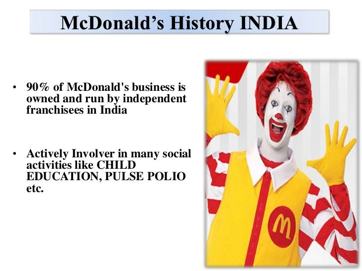 macdonald in india The company stated it would open vegetarian-only restaurants in india by mid-2013 foreign restaurants are banned in bermuda.