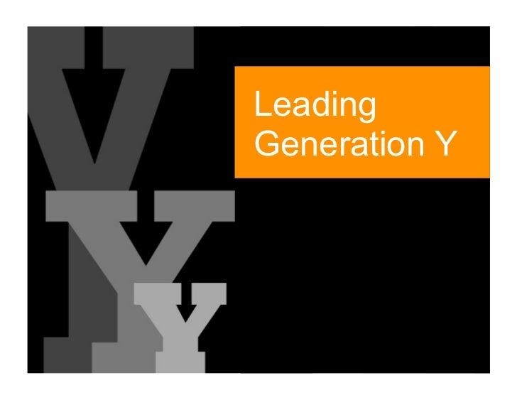 Leading Generation Y