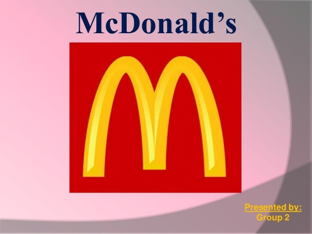 Presentation about McDonald's