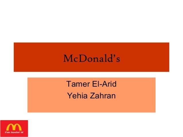McDonald's Tamer El-Arid Yehia Zahran