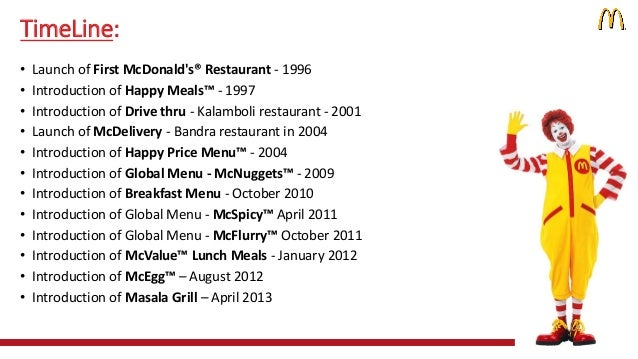 Customer Relationship Management of McDonald's