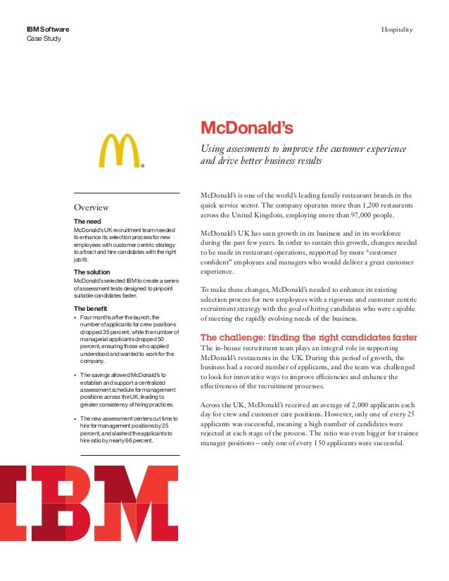 mcdonalds hrm policy Mcdonald's shook up its leadership this week as it struggled to keep up with  changing consumer tastes, appointing steve easterbrook,.