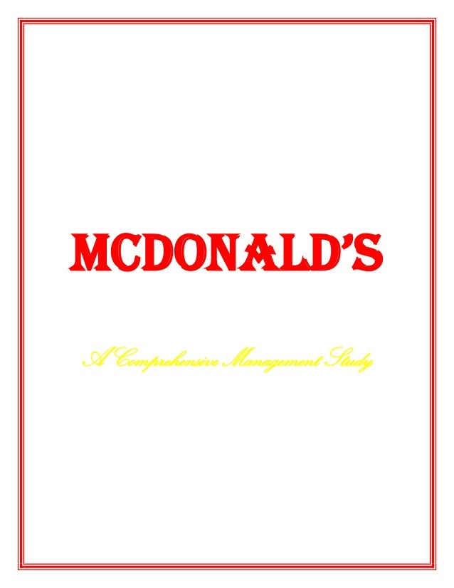 Mc donald's     project final