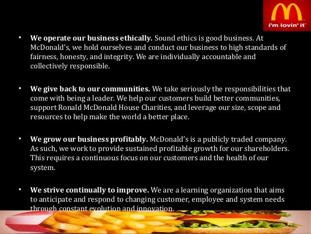 integrating mcdonalds business 2 essay Mcdonalds case study essay - in order to understand mcdonald's structure and culture and mcdonalds business analysis essay - since richard and maurice.