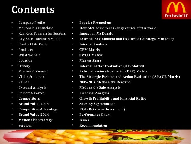 mc donalds marketing plan essay Looking for the best mcdonald's corporation swot analysis in 2018 click here to find out mcdonald's strengths marketing and pricing decisions.