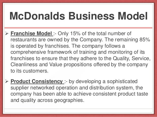 mc donalds as a business Learn how burger king is turning the tables on mcdonald's, and adding another fascinating chapter to a story of one of the most iconic business rivalries of all time.