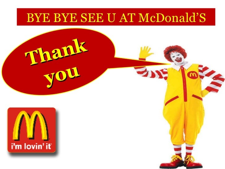 Mcdonalds Powerpoint Template 28 Images Mcdonald S