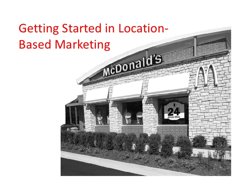 McDonald's Presentation - BDI 9.15.10 Mobile Social Communications