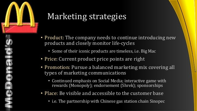mcdonald's current market strategies Mcdonald's cmo talks us through the brand's current state of play and how its products and communications are evolving to meet changes in customer needs.