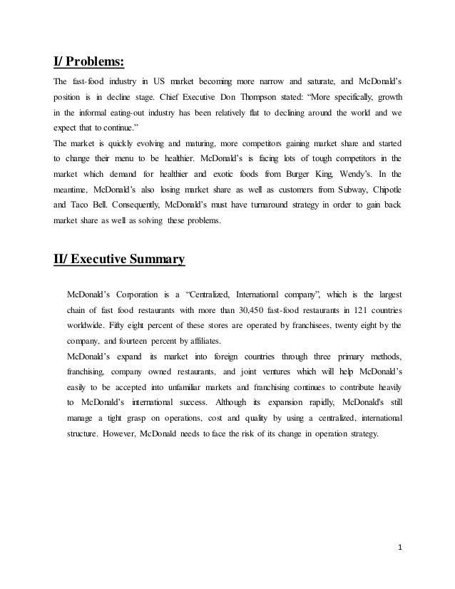 Mcdonalds marketing case study international marketing