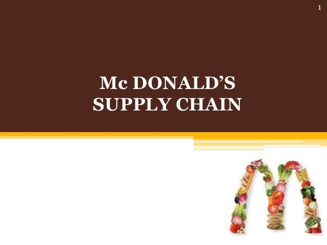 Mc DONALD'S SUPPLY CHAIN 1