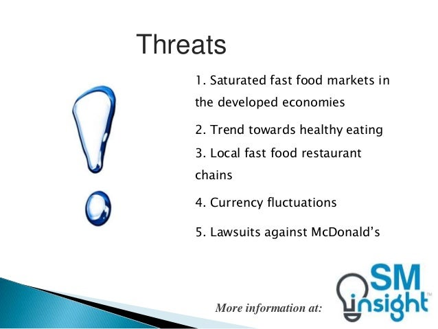 mcdonald and its competitorss swot Mcdonald's is the world's leading fast food restaurant chain with more than  34,000  in its official website or wikipedia's article swot mcdonalds swot  analysis 2013  intensity competitors along with the development of fast food  industry.