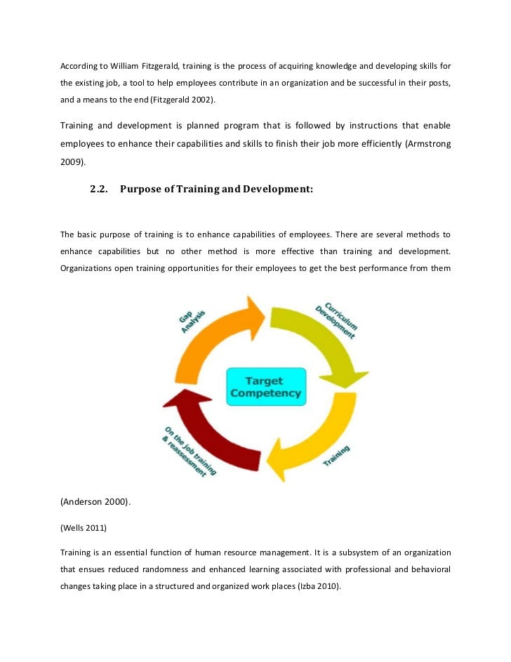Thesis on impact of training and development on employee performance