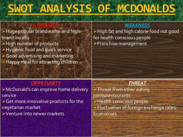 strength of mcdonalds Mcdonald swot analysis a strengths mcdonalds has strong global presence and is considered as a market leader in both the domestic as well as the international.
