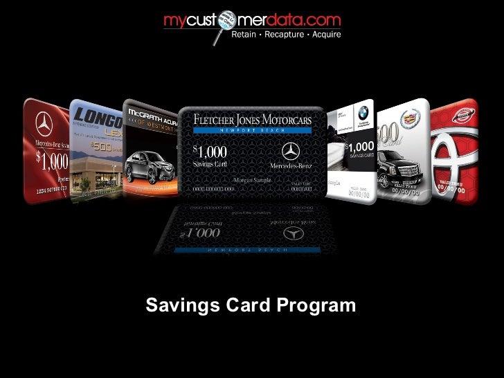 Savings Card Program