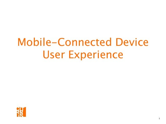 Designing UI/UX for Mobile-Connected Devices
