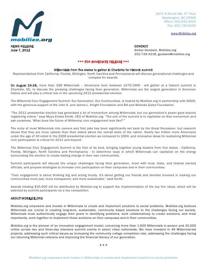 Mce summit press release