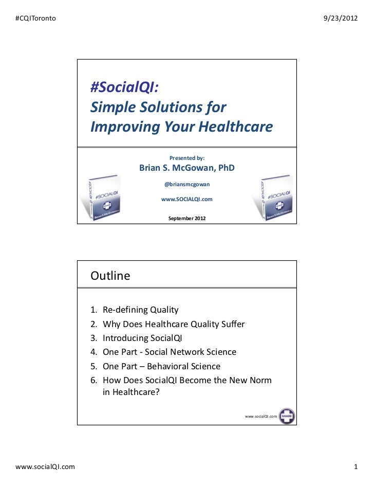 #socialqi Simple Solutions for Improving Your Healthcare - final