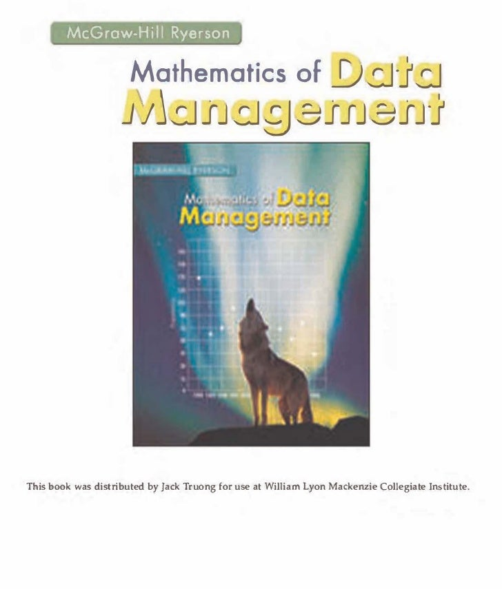 Mc graw hill - data management