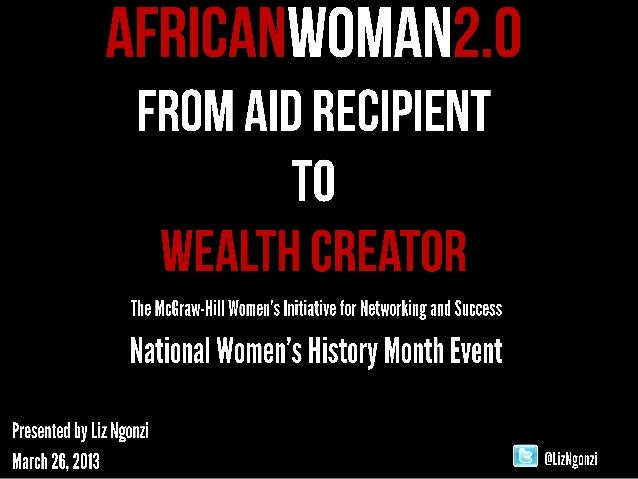 African Woman 2.0 Wealth Building vs. Poverty Eradication