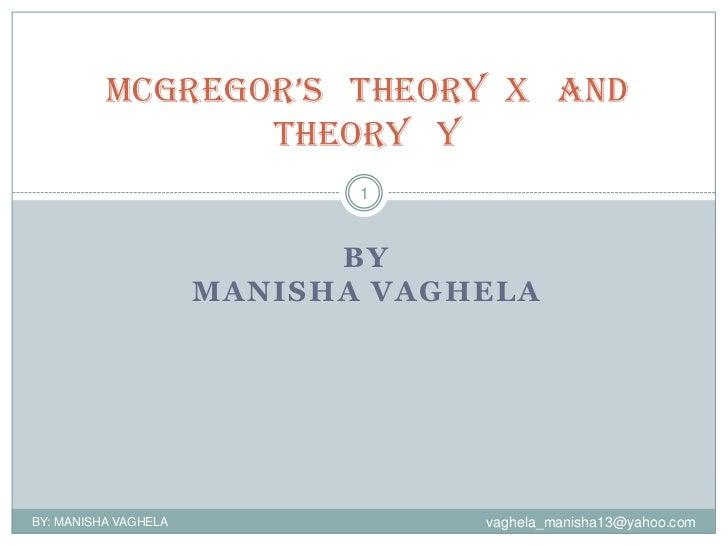 Mcgregor'stheoryxandtheoryy