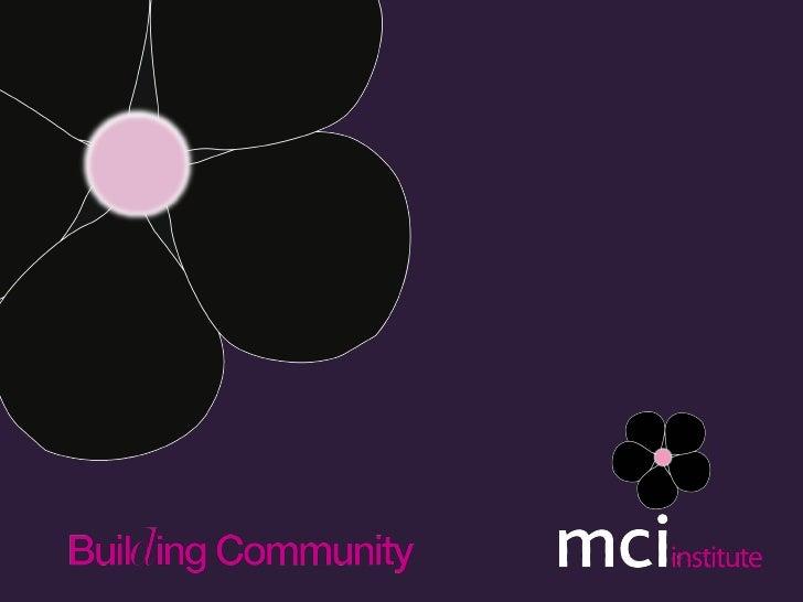 MCI Institute Product Practice Series Feedback