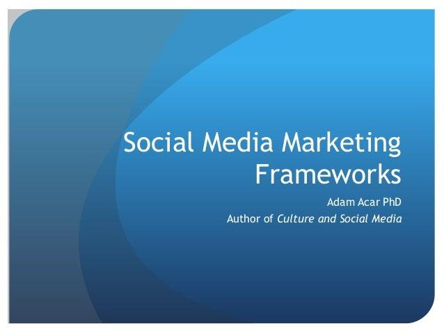 Social Media marketing Frameworks