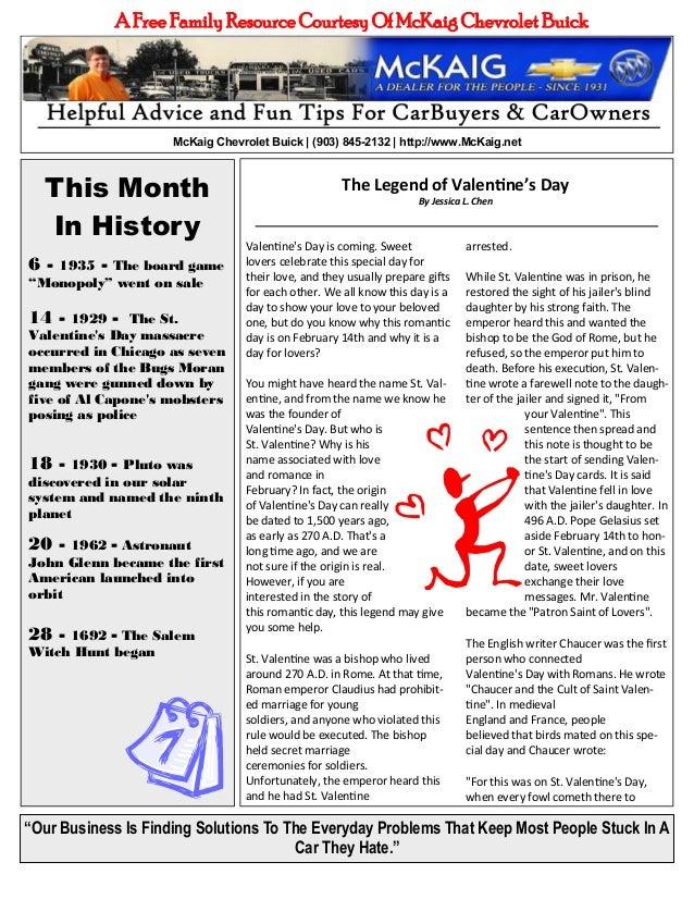 McKaig Chevrolet Buick February 2013 Newsletter