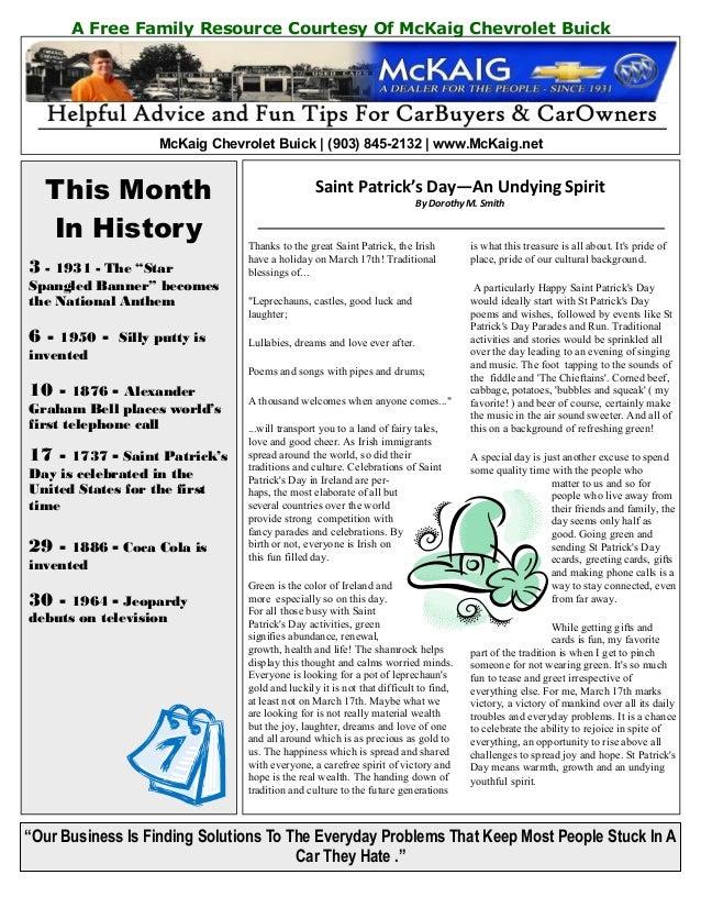 McKaig Chevrolet Buick March 2013 Newsletter