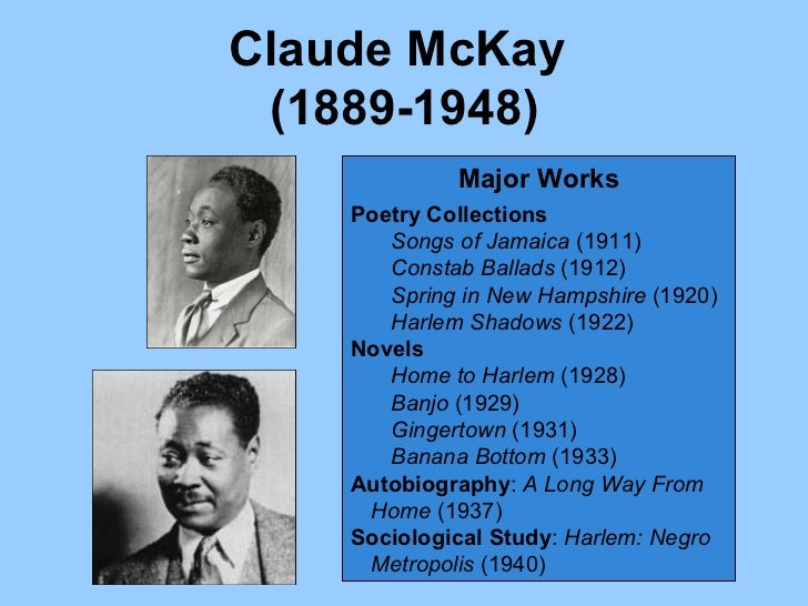 harlem shadows claude mckay analysis