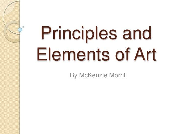 Mc Kenzie Morrill Art Slide Show 2
