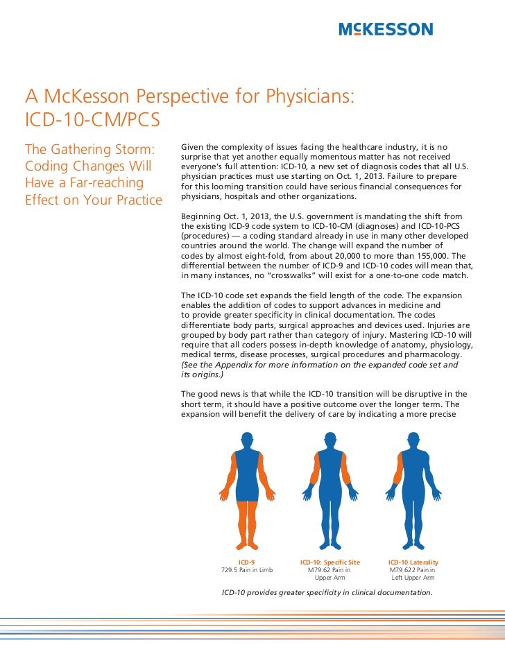 A McKesson Perspective for Physicians:ICD-10-CM/PCSThe Gathering Storm:      Given the complexity of issues facing the hea...