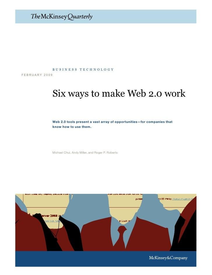 Six ways to make Web 2.0 work