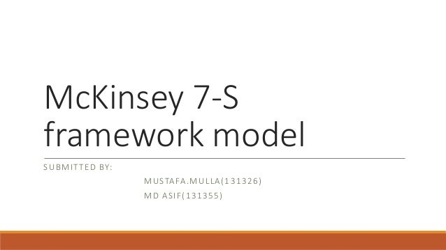 the mckinsey 7s framework pdf