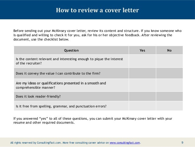 Pin Cover Letter Sample Mckinsey Company Home Page On