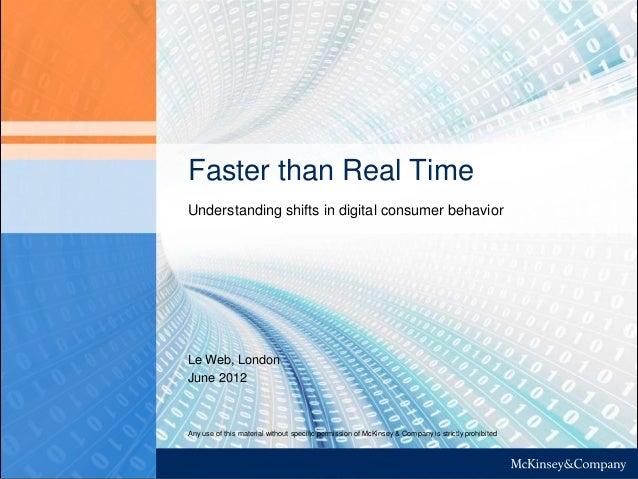 McKinsey: Understanding shifts in consumer behavior