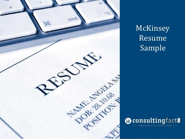 mckinsey resume sample