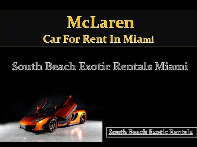 Really Cheap Car Rentals In Miami