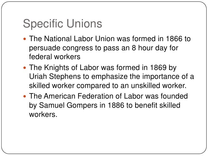 labor unions in united states essay Labor unions and labor movements in the united states essay from the encyclopedic treatment of the labor movement from the 1910s–1930s at the john r commons school, university of wisconsin, to the emergence of a new labor history in the 1960s and after, scholarly inquiry into the history of labor unions and working people's movements in.