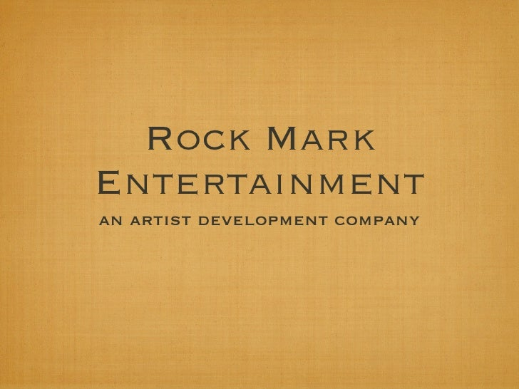 Rock Mark Entertainment Overview