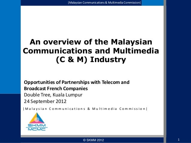 MCMC Overview of Malaysian Communication and Broadcast Industry 2012