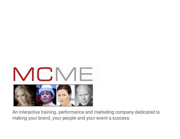 An interactive training, performance and marketing company dedicated tomaking your brand, your people and your event a suc...