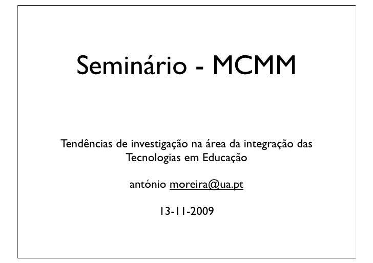 Seminário TIC e Educação