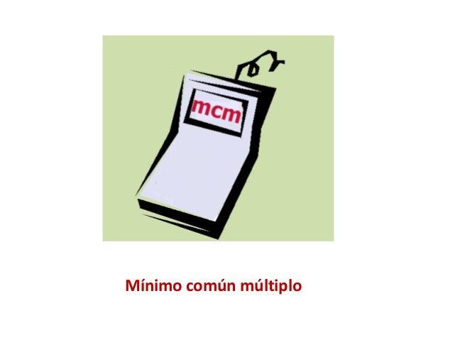 Mínimo común multiplo