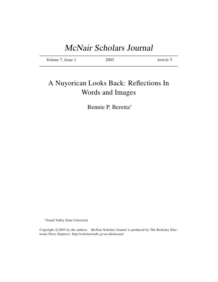 McNair Scholars Journal        Volume 7, Issue 1                  2003                              Article 3             ...