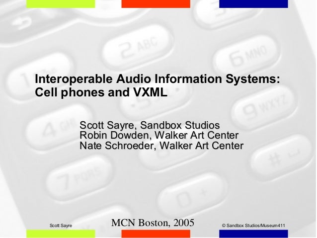 Interoperable Audio Information Systems: Cell phones and VXML