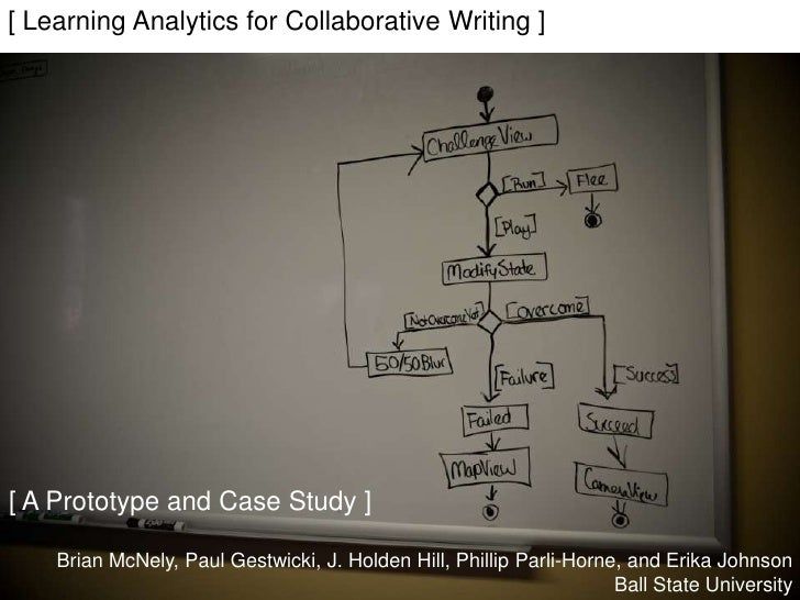 [ Learning Analytics for Collaborative Writing ][ A Prototype and Case Study ]    Brian McNely, Paul Gestwicki, J. Holden ...